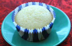 White Texas Sheet Cake Cupcake