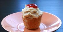 Mini PB & J Cupcake