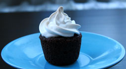 Mini Brownie Cupcake with Marshmallow Frosting