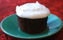 Chocolate Coconut Rum Cupcake