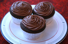 Sour Cream Chocolate-Cupcakes