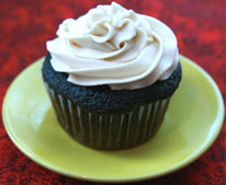 Blueberry Cupcake w Brown Sugar Frosting