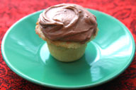 Mini Vanilla Cupcake with Chocolate Buttercream