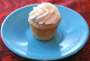 Mini Sour Cream Vanilla Cupcake