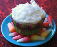 Flaked-Coconut-Cupcake