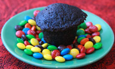 Mini-Dark-Chocolate-Cupcake