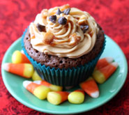 Snickers-Cupcake