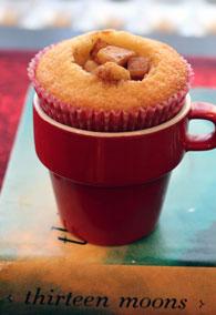Apple-filled-cupcake