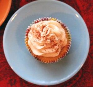 Cinnamon Pumpkin Cupcake top